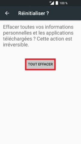 Réinitaliser Alcatel android 6.0 tout effacer