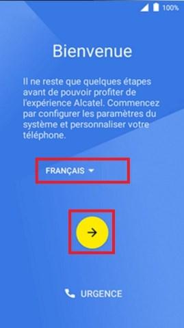 Activation Alcatel langue