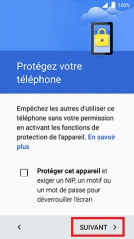 Activation Alcatel verrou