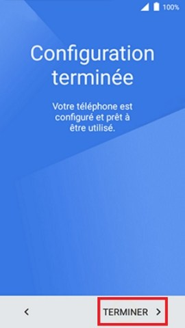 Activation Alcatel terminer