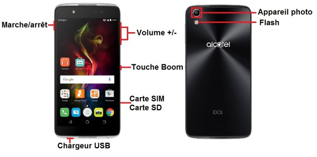 Alcatel Idol 4 bouton