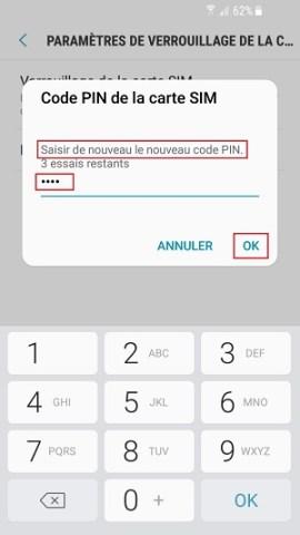 contact code pin ecran verrouillage Samsung (android 7.0) nouveau code pin