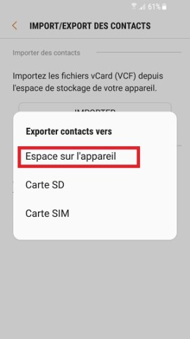 contact code pin ecran verrouillage Samsung (android 7.0) contacts