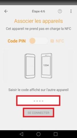 Xperia Transfer Mobile code