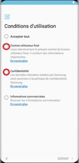 Activation Samsung Galaxy S8 condition google