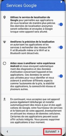 Activation Samsung Galaxy S8 Service Google