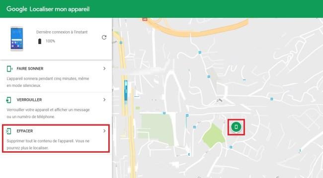 Mobile perdu ou volé ? localiser son android effacer