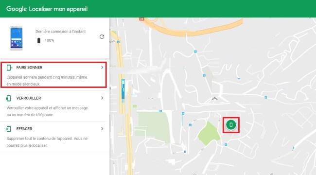 Mobile perdu ou volé ? localiser son android faire sonner