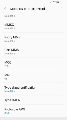 MMS Samsung android 7 APN