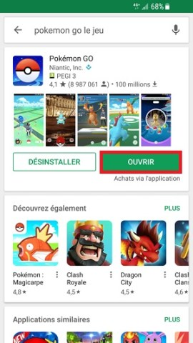 application Samsung android 7 nougat ouvrir