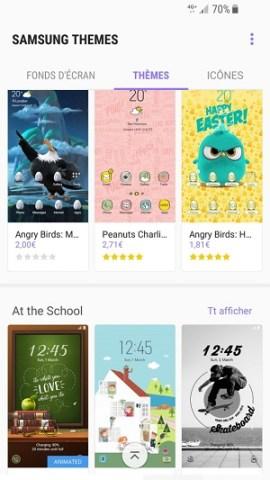 Personnaliser Samsung android 7.0 thème