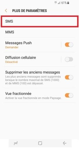 SMS Samsung Galaxy S8 SMS