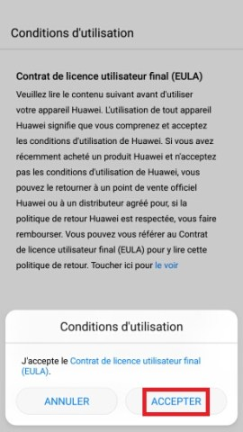 Activation Huawei android 7 nougat