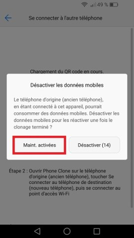 Transférer ses donnees huawei