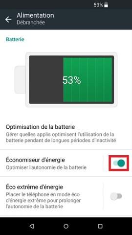 autonomie HTC économie d'énergie