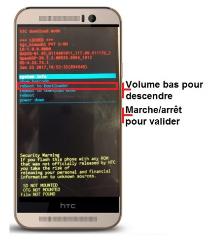 recovery mode HTC