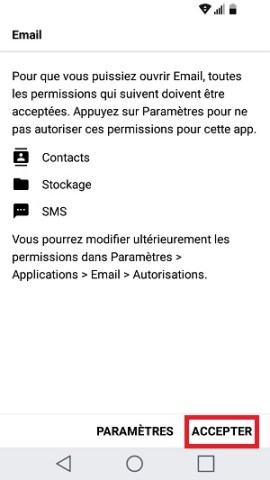 email LG android 7