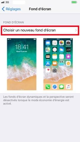 Personnaliser iPhone 8 fond écran