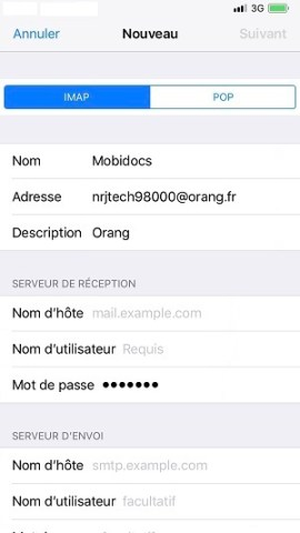 email iPhone X