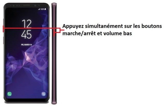 capture écran android