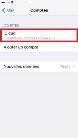 iPhone IOS 10 reglages mail ajouter un compte