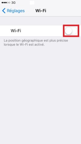 Iphone IOS 10 Wifi activation