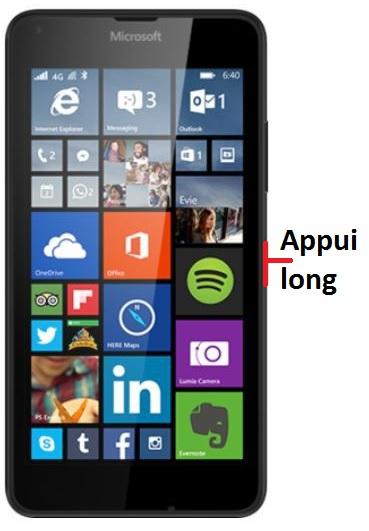 éteindre Lumia 640