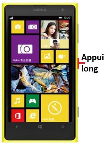 éteindre Lumia 1020
