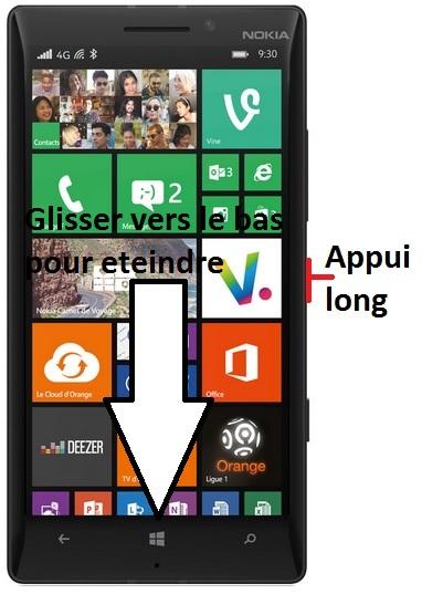 éteindre Lumia 930