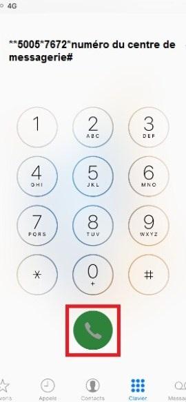 SMS iMessages iPhone X centre de services