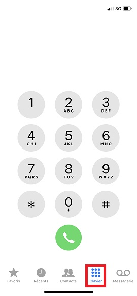SMS iMessages iPhone 7 clavier