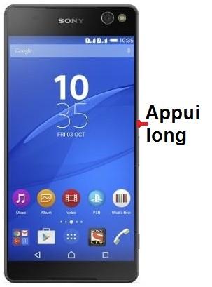 allumer Sony Xperia C5