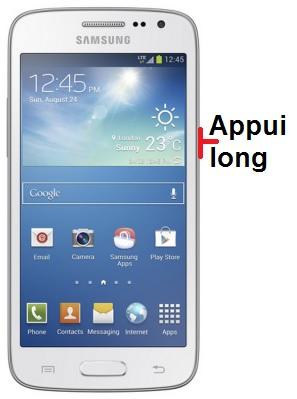 éteindre Samsung Galaxy 4G