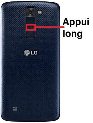 éteindre LG K8
