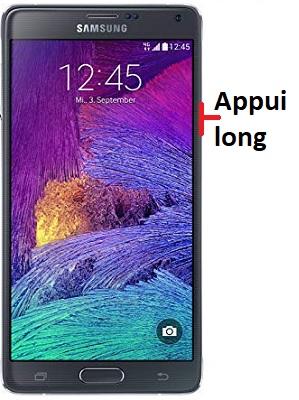 éteindre Samsung Note 4