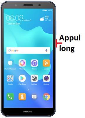 éteindre Huawei Y5 2018
