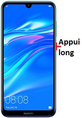 éteindre Huawei Y7 2019