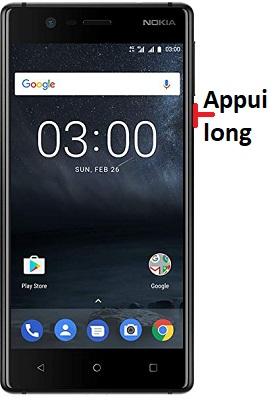 éteindre Nokia 3