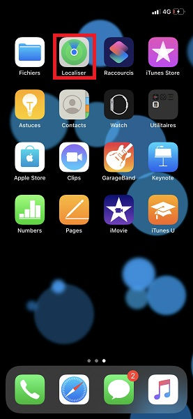 Localiser contacts iphone