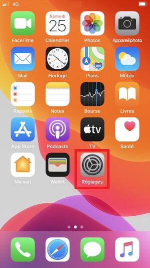 MMS iPhone SE 2020 réglages