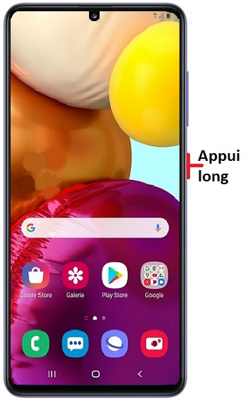 éteindre Samsung A41