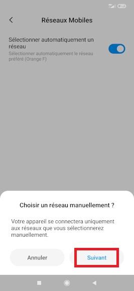 Réseaux Xiaomi Note 8
