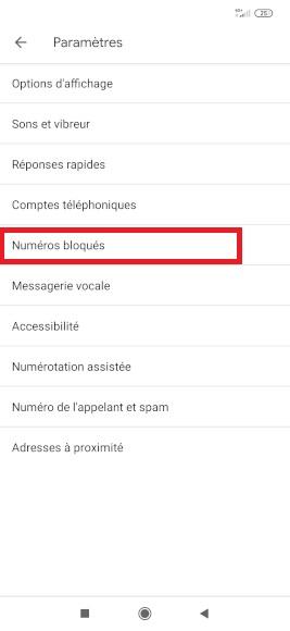 bloquer numéro Xiaomi Note 8