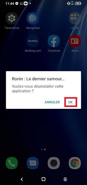 supprimer application Alcatel 1S 2020