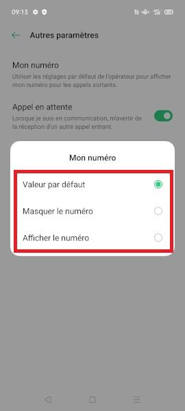 masquer numéro Oppo Find X2