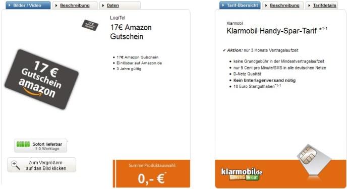 2016-04-22 21_30_37-Klarmobil Aktion mit 17€ Amazon Gutschein-Aktion