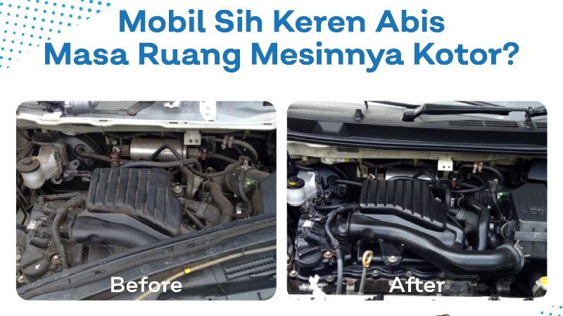 Layanan cuci mesin mobil dari Mobiklin