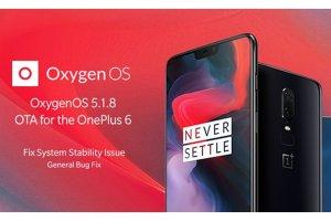 "OnePlus skickar ut Oxygen OS 5.1.8 till ""6"""