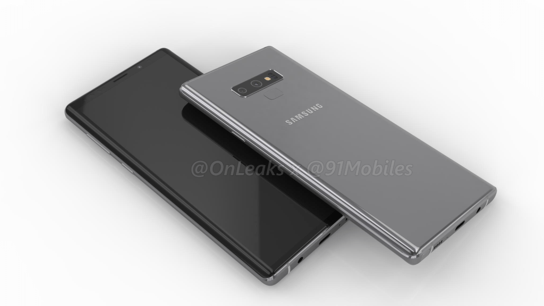Specifikationsblad för Galaxy Note 9 läcker