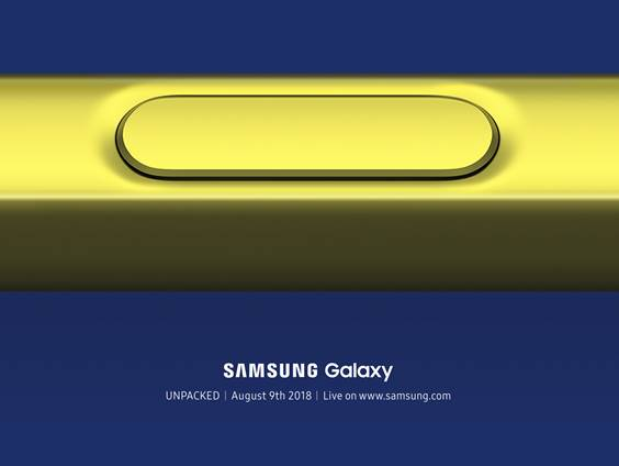 Bekräftat: Samsung Galaxy Note 9 presenteras 9:e augusti